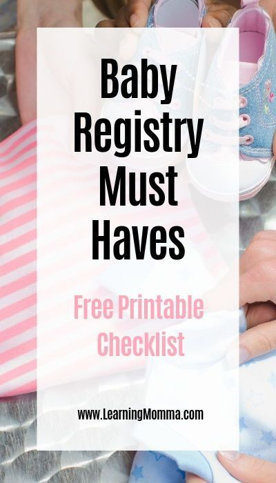 Printable Baby Registry Checklist For The Minimalist – The ultimate list for new…
