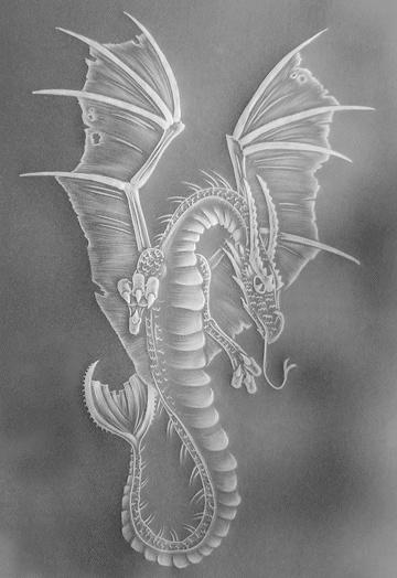 Parchment craft dragon - fantastic