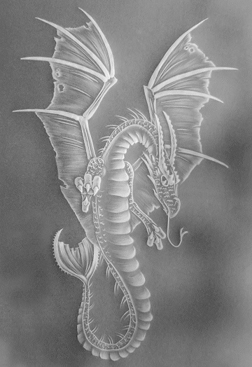 Parchment craft dragon