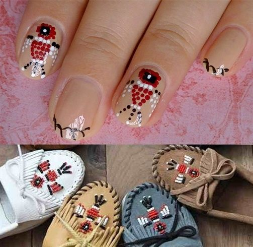 Indian Moccasins Inspired- Nail Art Gallery By Nailsmag