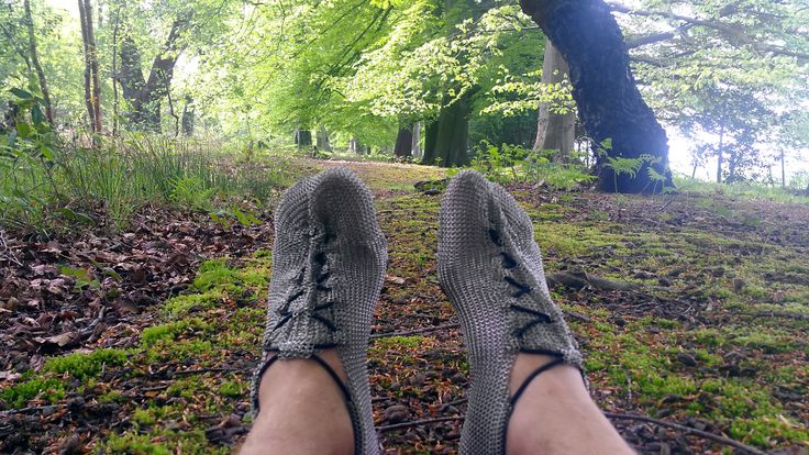 "Just now weather conditions are perfect. Enter the forest, enjoy authentic ""barefoot feel"" on sodden soil and moss with #paleos and train your immune system for winter! The #chainmailshoes by #gostbarefoots #naturelovers #lovethewoods #trainrunning #barefootrunning #barefootshoes #barfußlaufen #barfußschuhe #perception #safety #outdoor #lifestyle #fun"