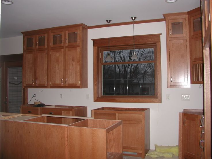 Notice the split upper cabinet with the small upper doors for Small upper kitchen cabinets