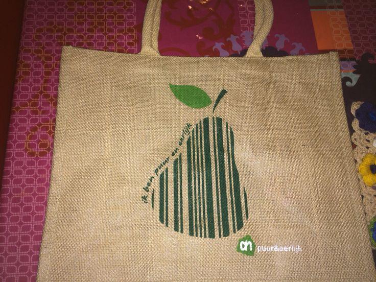 Men neme een saaie boodschappentas... / Take a plain grocery bag...