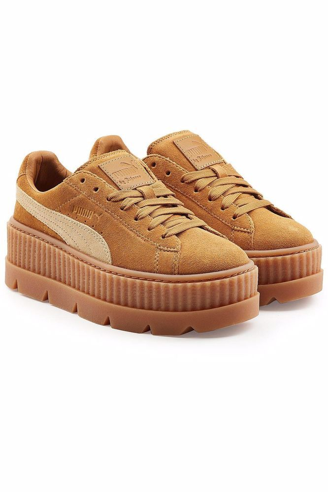 c2dc8a526135 Puma Fenty by Rihanna Suede Cleated Creeper Sneakers- Brown- Womens  fashion   clothing  shoes  accessories  womensshoes  athleticshoes (ebay link)
