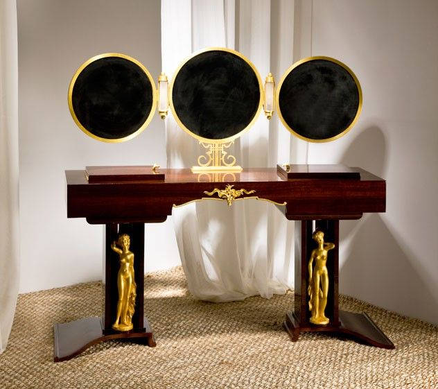 Maison gérard deco chic vanity by jules leleu graceful as ever jules leleu exceptional desk two is better than one indeed
