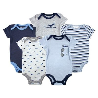 Find product information, ratings and reviews for Luvable Friends Baby Boys' 5 Pack Bodysuits - Airplane online on Target.com.