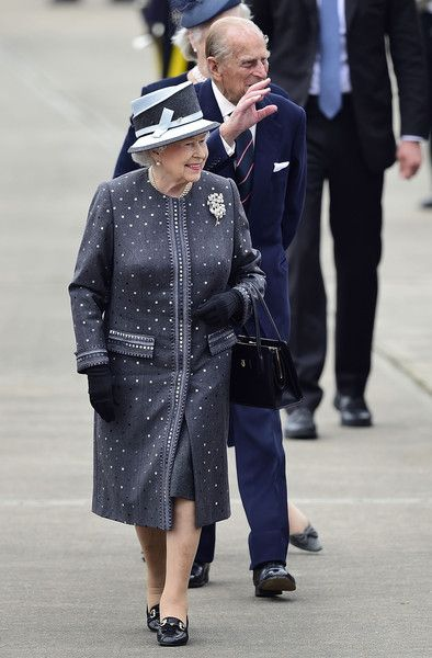 zimbio:  British State Visit to Germany, June 26, 2015-Queen Elizabeth and the Duke of Edinburgh at the military airport in Celle