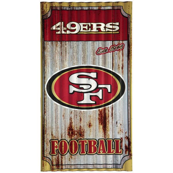 "San Francisco 49ers 21.5"" x 12"" Corrugated Metal Wall Art - $39.99"