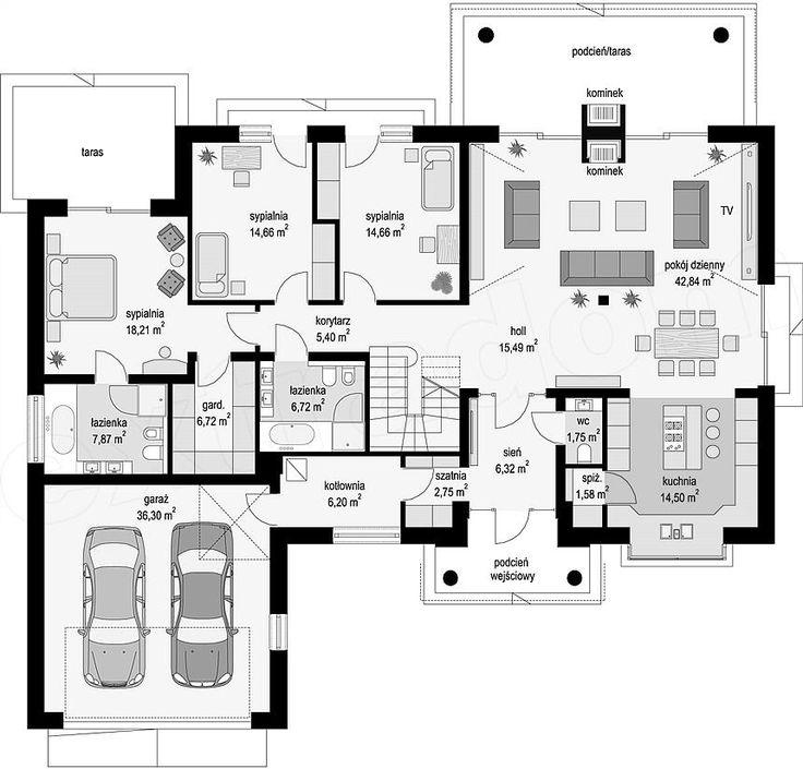 Prízemie plán projektu Villa Park