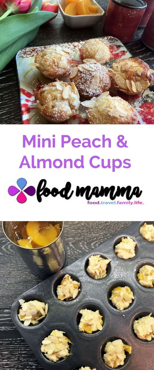 Mini Peach and Almond Cups