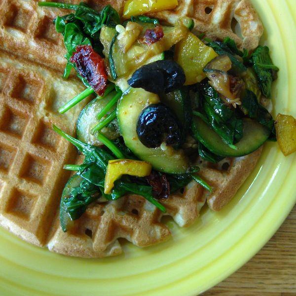 Savory Gluten Free Waffles #rudisglutenfree #breakfast #gfwaffle