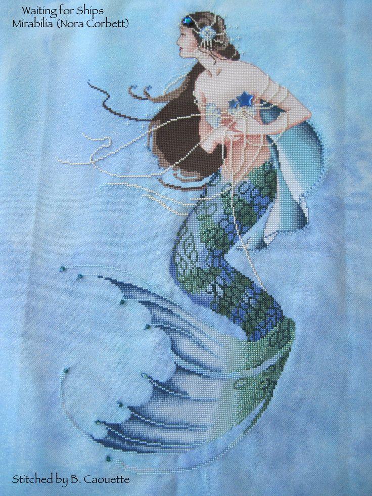 Mermaid Hand Embroidery Design