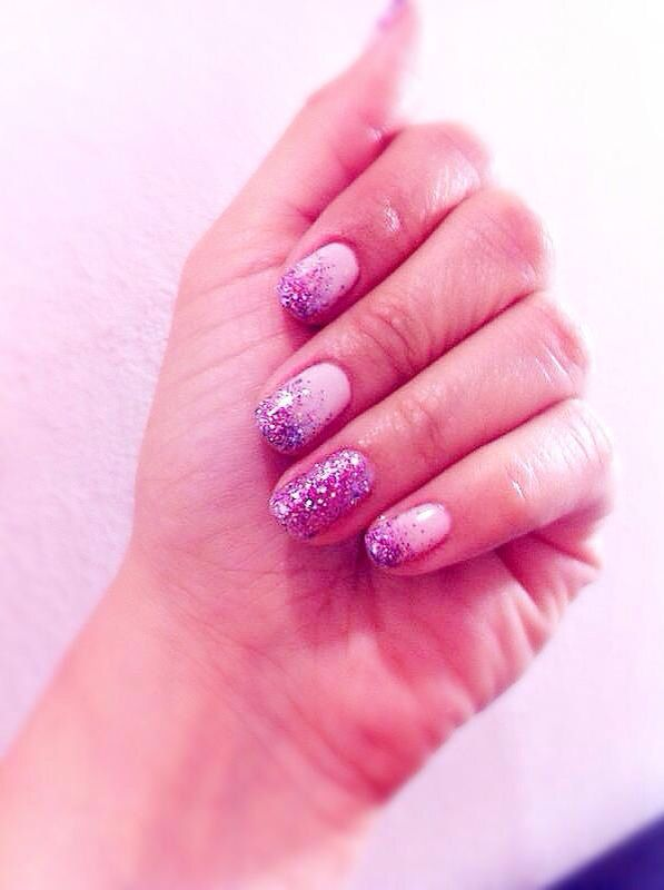 Sparkles nude nail art
