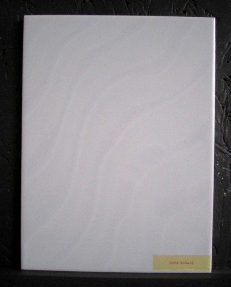 Wandfliesen 15x20 Cm Weiss Grau Glanzend Marmoriert: MOSA Keramik Wandfliesen 15x20 Cm Weiss Mit Wellenmuster