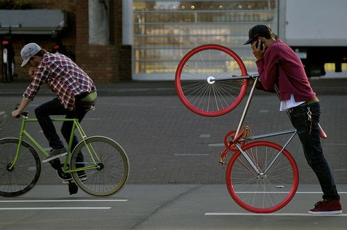 U can do everything with ur bicycle...