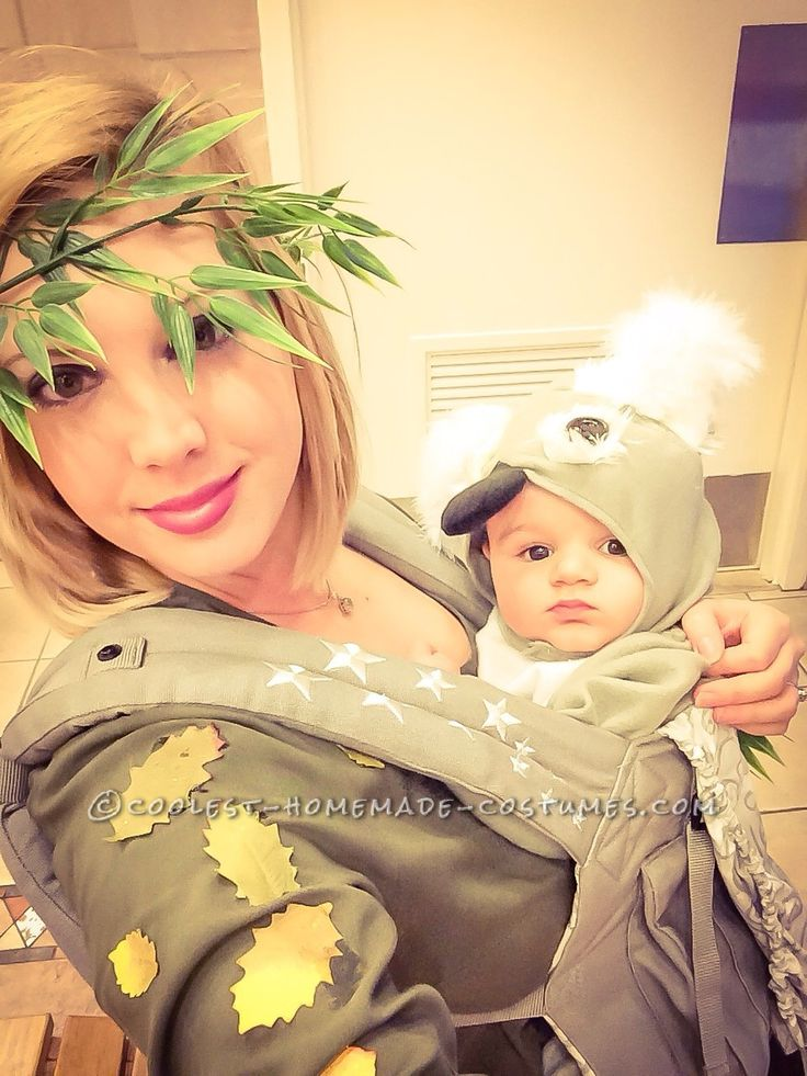 Cute Mom and Baby Costume: Koala in Eucalyptus Tree!... Coolest Halloween Costume Contest