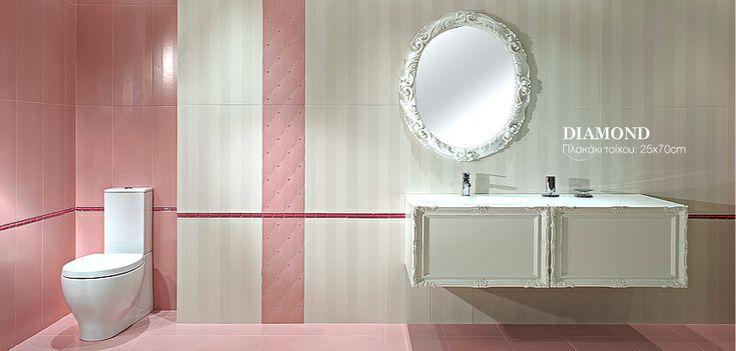 #Porcelana - Diamond #bathroom www.porcelana.gr