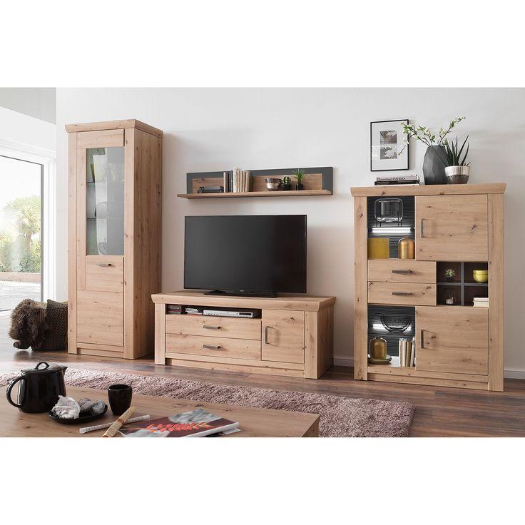 Home24 Wohnwand Mendes I 4 Teilig Wandregal Tv Kommode Und Tv