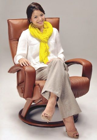 Gaga Recliner Chair by Lafer Recliners comes with luxurious wood base or standard silver base.  Lafer Gaga Recliner Chairs by Lafer Furniture features backrest, headrest and footrest controls. Gaga Ergonomic Recliner Chair from Lafer Recliners.