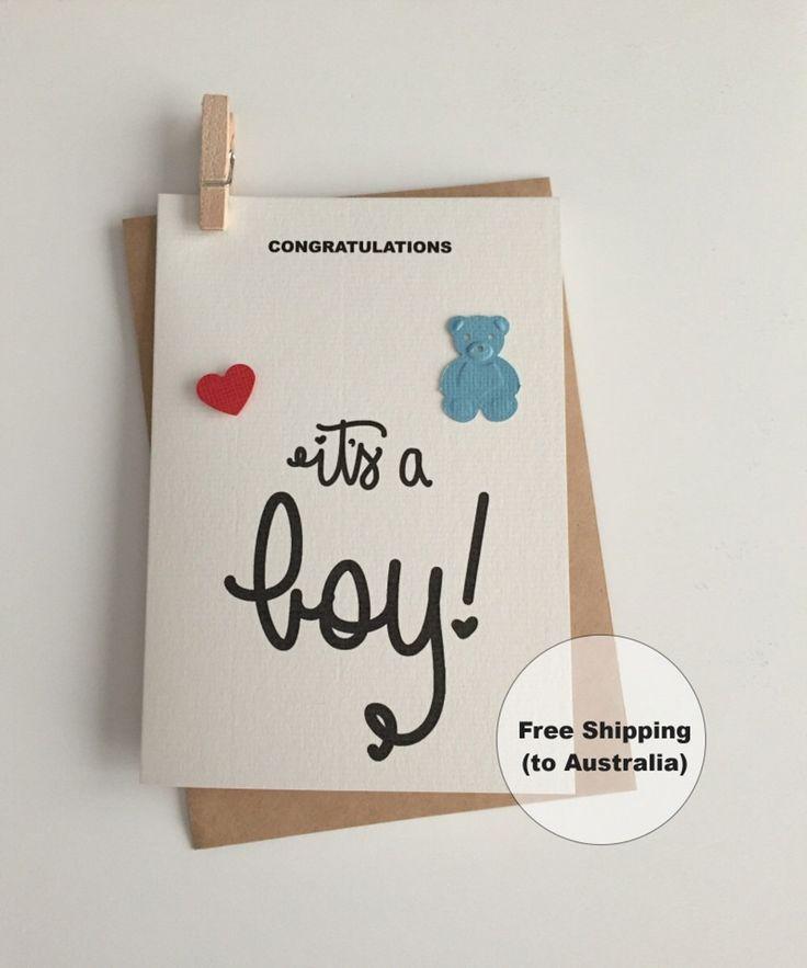 It's a Boy Card  – Congratulations Baby Boy Card – Blue Teddy Bear Card – Teddy Bear Boy Card – New Baby Boy Card - Baby Bear Card by SweetCCDesign on Etsy https://www.etsy.com/au/listing/513198185/its-a-boy-card-congratulations-baby-boy