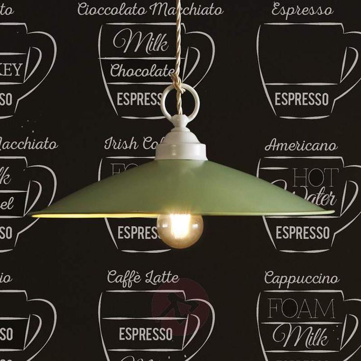 Lampada a sospensione verde Rua, stile industriale. Dai un'occhiata su Lampade.it! Numero articolo: 4011750