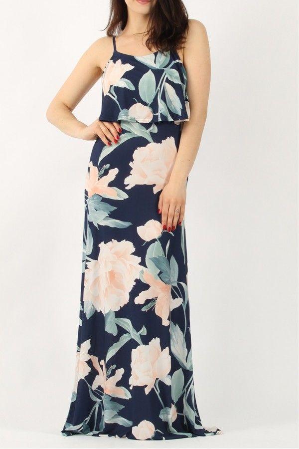 Φλοράλ μάξι φόρεμα