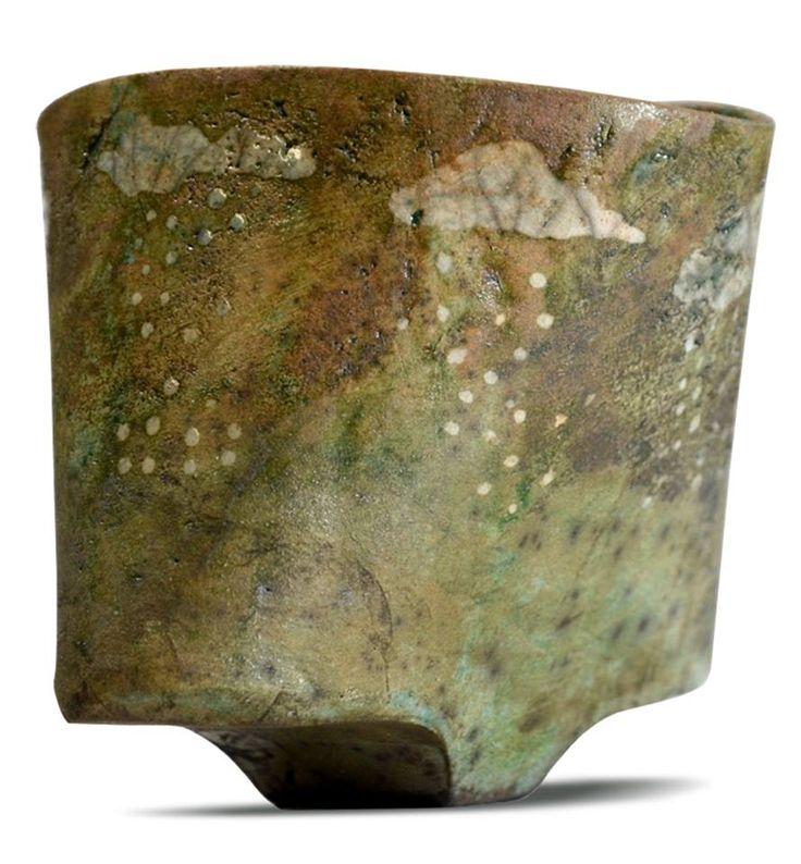 """""""NUAGES"""" petit bol de collection en Raku d'une infinie poésie. 11X8 cm, Créatrice : Florence Pauliac. pièce unique"""