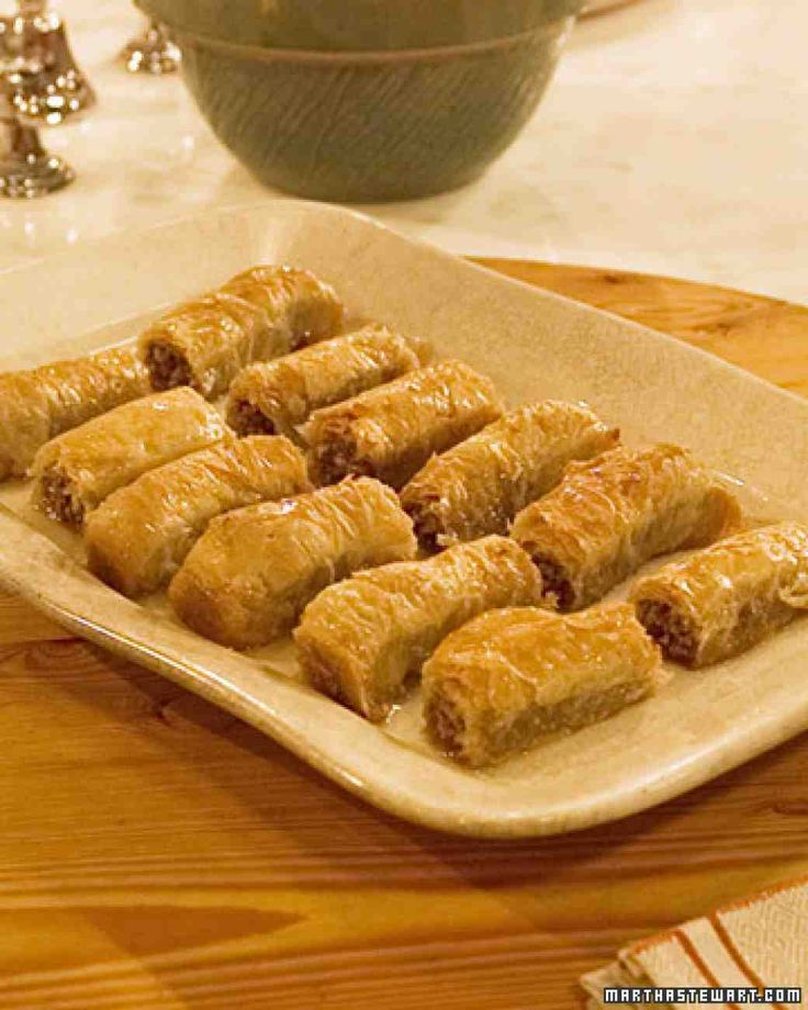 Video as follows http://www.marthastewart.com/914248/lili-fable-prepares-rolled-baklava#914248