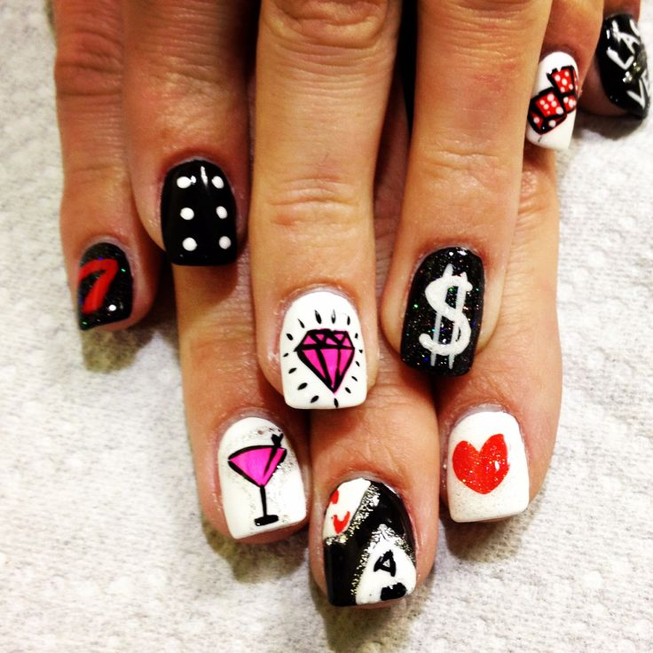 Las Vegas nail art! We could have some sort of nail station at the party for an accent nail maybe?