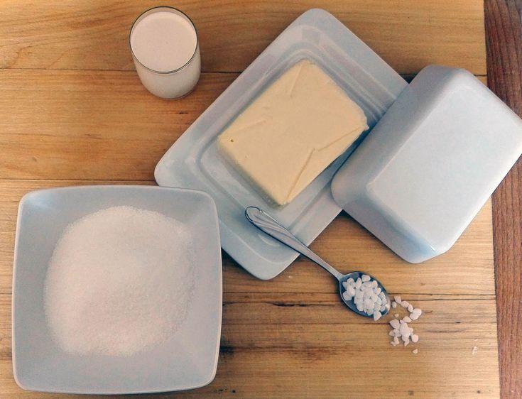 Suroviny na slaný karamel