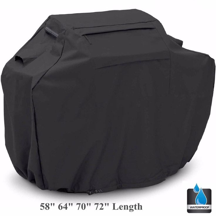 """Black BBQ Gas Grill Cover Barbecue Shield Air VentsHeavy Duty Waterproof Outdoor Weber Lower 58"""" 64"""" 70"""" 72"""" New"""