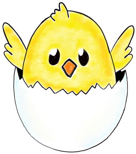 Baby Chicken Drawings How to draw a baby chick in an egg shell for easter drawing ...