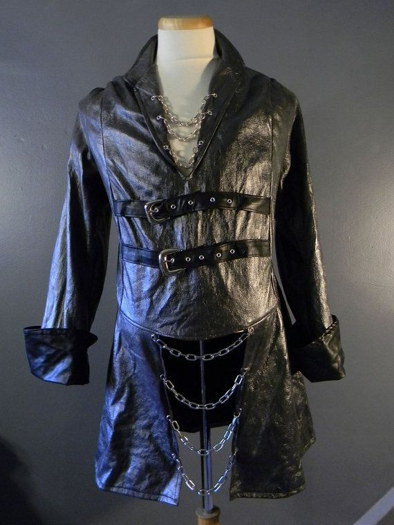 Original Handmade Mens Gothic Black Faux by MorganCroneCreations