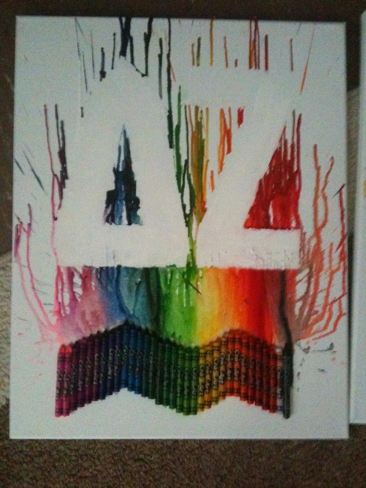 DZ Crayon art done with ducktape!