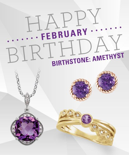 Happy Birthday #February Babies! Click through to shop Amethyst Jewelry.