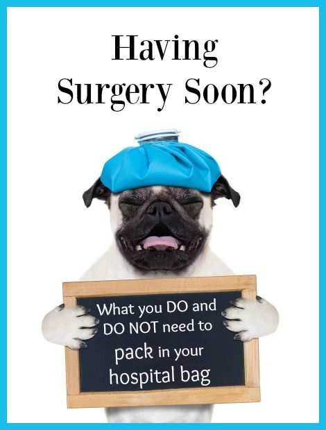 Have a back surgery scheduled for the near future? Click here to see a hospital packing list for surgery and learn what you should and shouldn't bring.