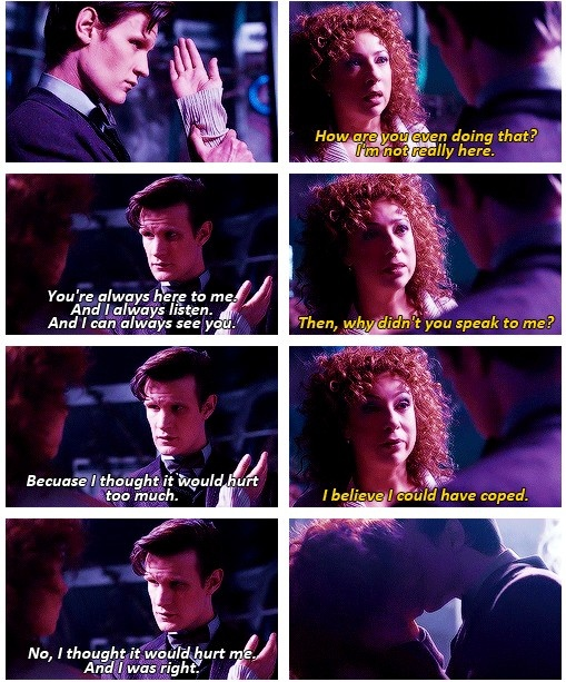 I'm going to go cry now... Excuse me... *curls up in a little ball in the comer and sobs indistinguishable things about River and the Doctor while tears leak out of le eyes*