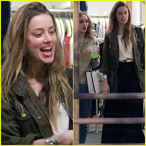 Amber Heard & Future Stepdaughter Lily-Rose Depp Laugh & Bond While Shopping (PHOTOS)