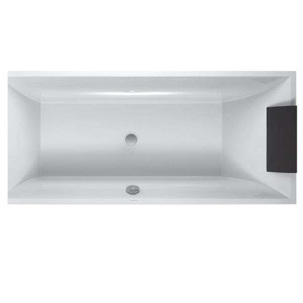 E&S Trading | Kitchen, Bathroom & Laundry - Villeroy & Boch SQUARO 1800mm Quaryl Rectangular Bath BQ180SQR2VB
