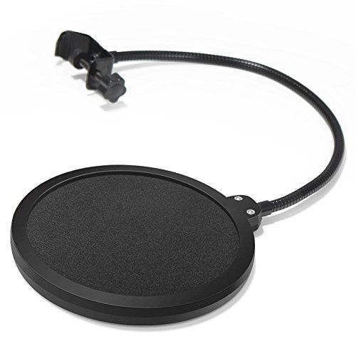 From 5.99:Innogear Microphone Pop Filter Swivel With Double Layer Sound Shield Guard Wind Screen Popfilter For Blue Yeti And Other Recording Studio Mic