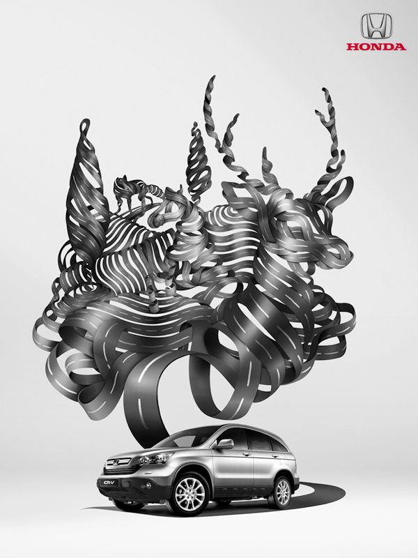 Honda CR-V by drasik , via Behance