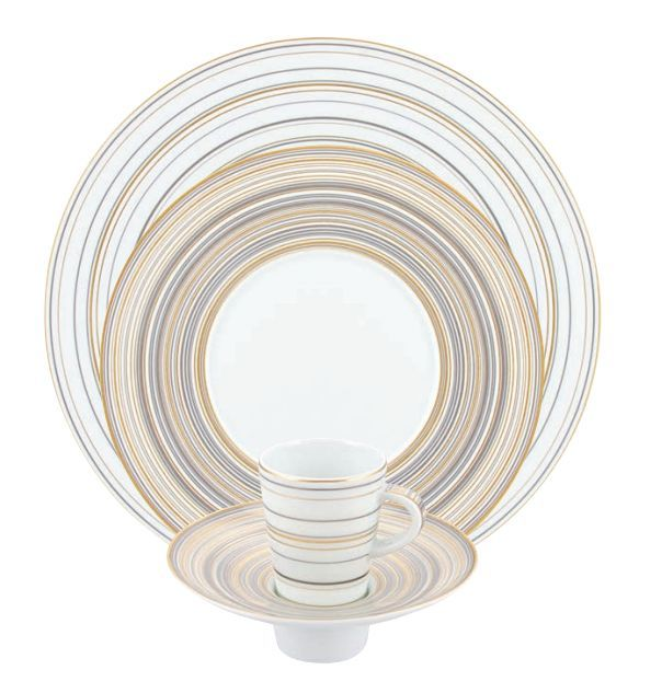 """#Raynaud - Limoges #porcelain - """"Attraction or et platine"""" collection"""