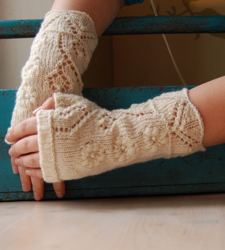 Lace Arm Warmers Knitting Pattern : 113 best Wedding Knits images on Pinterest Knitting, Boleros and Ponchos