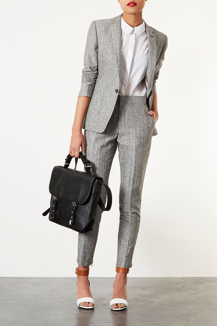 grey tweed modern cut suit