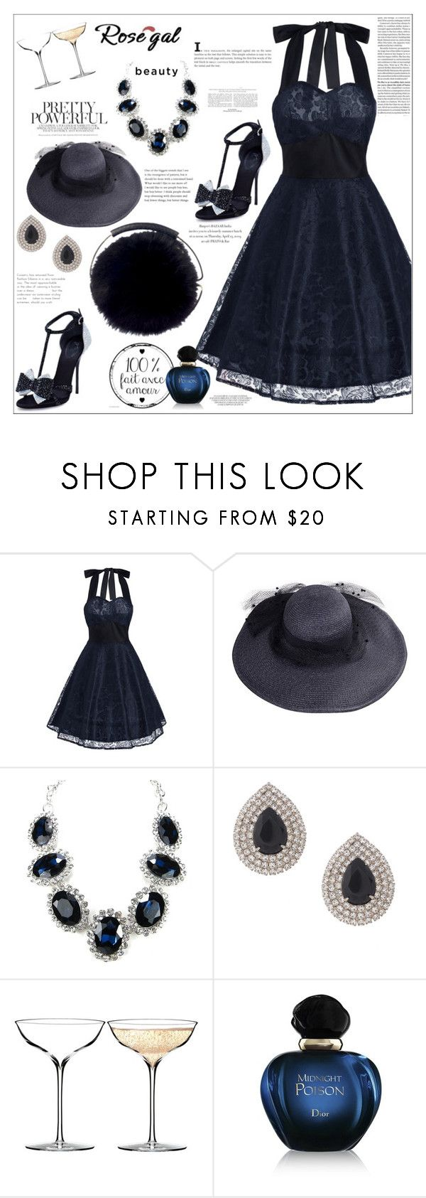 """""""Robe évasée en cristal de dentelle vintage  Https://www.polyvore.com/vintage_lace_panel_contrast_flare/collection?id=6781700"""" by frane-x ❤ liked on Polyvore featuring Giuseppe Zanotti, Jimmy Choo, Susan Caplan Vintage, Waterford, Christian Dior and vintage"""