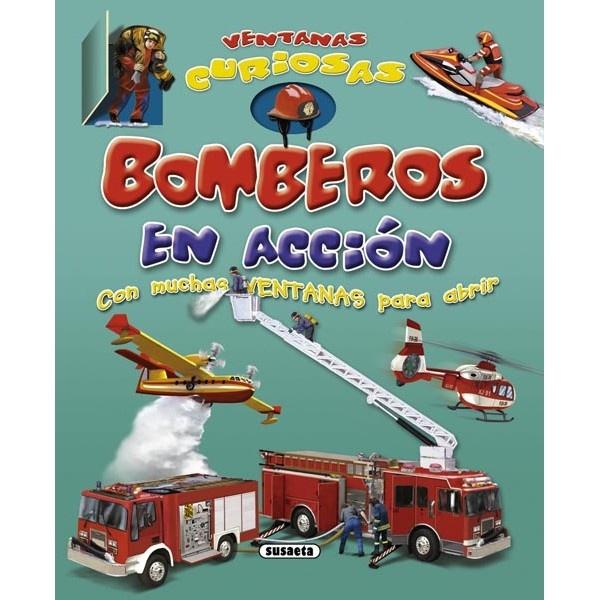 Para divertirse abriendo las ventanas y aprendiendo un montón de curiosidades sobre los bomberos. #libros #niños