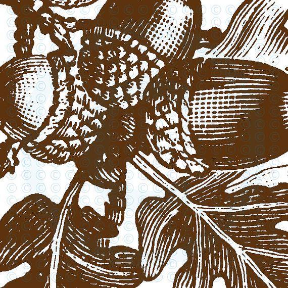 Eikels en eikenbladeren hoek antieke stijl individuele