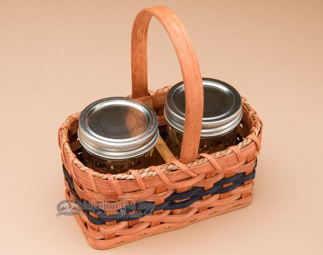 Mission Del Rey Southwest - Handmade Amish Jar Basket, $29.95