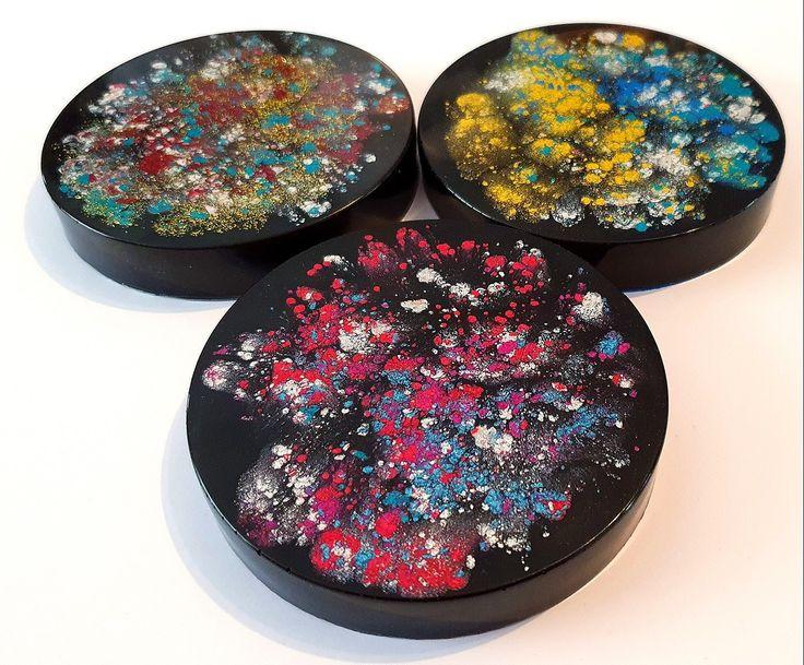 Diy galaxy epoxy resin coasters in 2020 diy galaxy