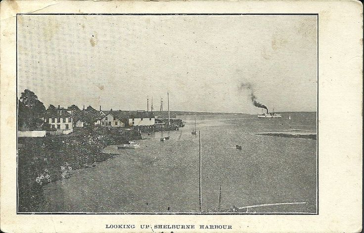 Harbor Shelburne NS postcard